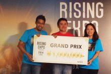 「RISING EXPO 2014 in Japan」にて、グランプリを受賞いたしました